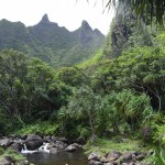 beautiful mountains in Princeville on Kauai, Hawaii